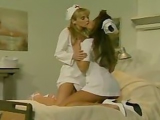 Amazing Kissing Lesbian  Nurse Pornstar Uniform Vintage