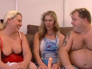 European German Mature Older Threesome Toy Wife