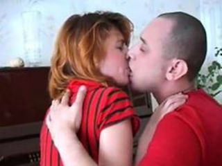 Amateur Kissing Mom Old and Young Redhead Russian