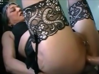 Anal  European French Mature Mom Piercing Stockings