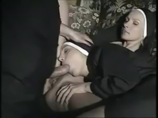 Babe  Blowjob Clothed European German Nun Threesome Uniform Vintage