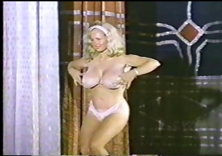 Babe Big Tits Blonde Dancing Natural Panty Vintage
