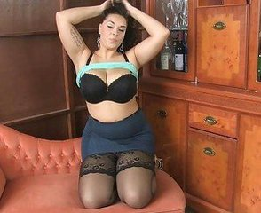 Brunette Masturbating Mature  Pornstar Skirt Solo Stockings Stripper