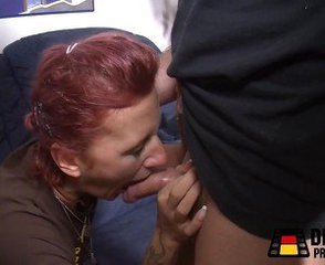 Amateur Blowjob European German Mature Redhead
