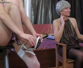 Lesbian Licking Mature Old and Young Russian Stockings