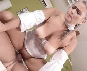 Blonde Mature Pornstar Riding  Shaved