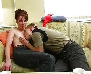 Hairy Mature Mom Old and Young Redhead Skinny