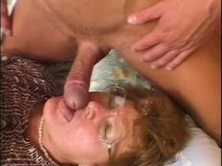 Blowjob Glasses Mature Mom Old and Young Redhead