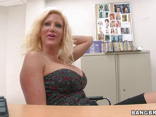 Amazing Big Tits Blonde Casting  Office