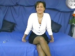 European German Masturbating Mature Skirt