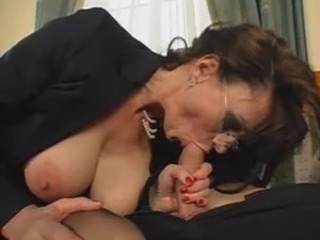 Big Tits Blowjob Glasses Mature Nipples