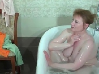 Bathroom  Big Tits Mature Mom Russian