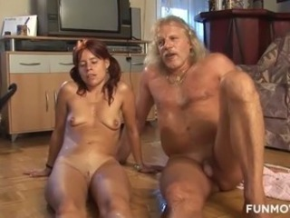 Amateur Fetish  Oiled Older Redhead Wife