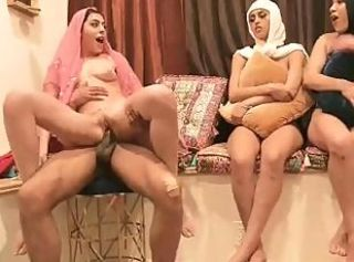 Amazing Arab Babe Groupsex Riding Wife