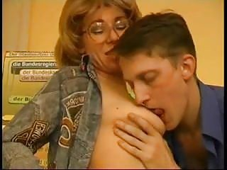 Glasses Mature Mom Old and Young Russian Student Teacher