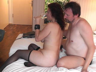 Amateur Drunk European German Older Stockings Wife