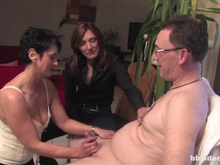 European German Handjob  Older Threesome