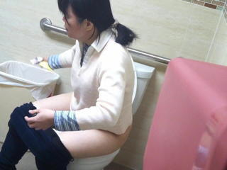 Asian Mature Toilet Voyeur