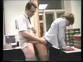 Amateur Doggystyle Office Russian Secretary Wife