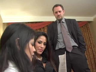 Amazing Brazilian Latina  Secretary Threesome