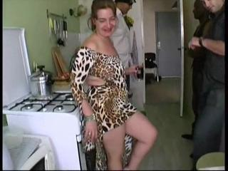 Amateur Gangbang Kitchen Wife