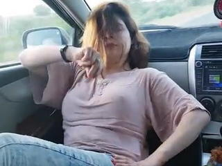 Amateur Arab Big Tits Car Dancing Wife