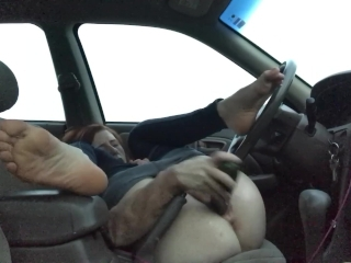 Car Masturbating Public Toy Wife