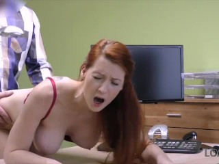 Big Tits  Office Redhead Secretary