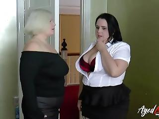 Maid Mature  Natural Threesome