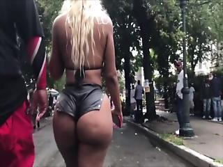 Ass Ebony  Outdoor Public