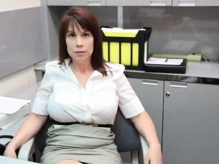 Amazing Big Tits Mom Office Russian Wife