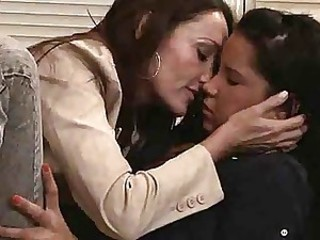 Kissing Lesbian Mature Mom Old and Young Teen