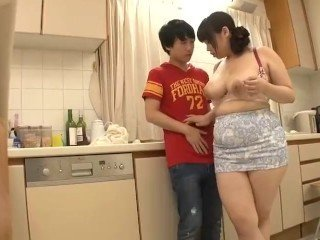 Asian Family Japanese Kitchen Mature Mom Old and Young