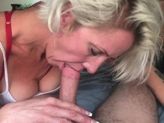 Blonde Blowjob Mature  Pov