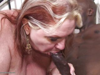 Blowjob  Interracial Mature Swallow