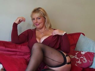 Big Tits Blonde Mom Solo Stockings Wife