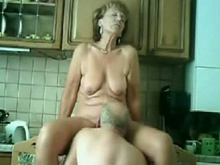 Amazing Kitchen Licking Mature Older Wife