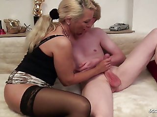 European Family German Handjob Mature Mom