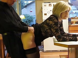 Amazing Doggystyle Kitchen Mature Stockings