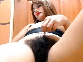 Amateur Hairy Webcam Wife