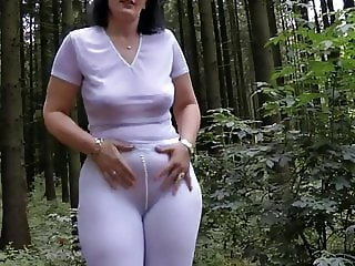 Chubby Mature Outdoor Wife