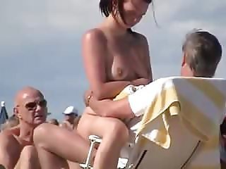 Beach Nudist Voyeur Wife