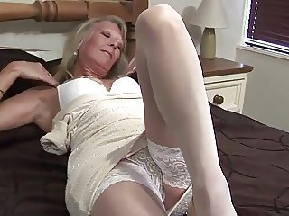 Amazing Legs Masturbating  Solo Stockings