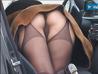 Ass Car European Italian  Stockings Upskirt