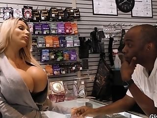Amazing Big Tits Interracial