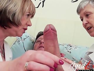 Doctor Handjob Mature Older Threesome Uniform