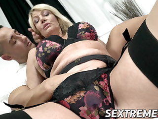 Family Lingerie Mature Mom Natural Old and Young Stockings