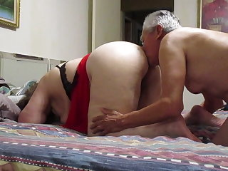 Homemade Licking Mature Older Wife