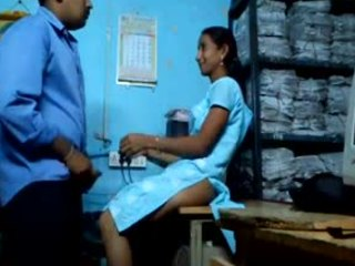 Sneaky Indian couple enjoying hardcore gender while back at get under one's office