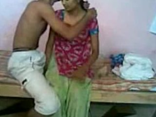 Messy yet enlivened sex scene focusing on an amateur Indian couple